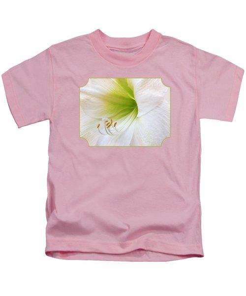 Alluring Amaryllis Square Kids T-Shirt