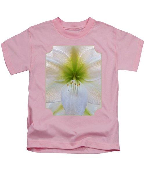 Alluring Amaryllis Vertical Kids T-Shirt