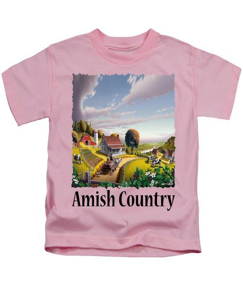 Amish Country - Appalachian Blackberry Patch Country Farm Landscape 2 Kids T-Shirt
