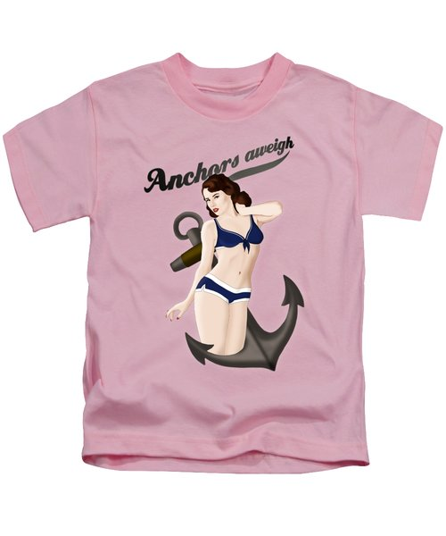 Anchors Aweigh - Classic Pin Up Kids T-Shirt