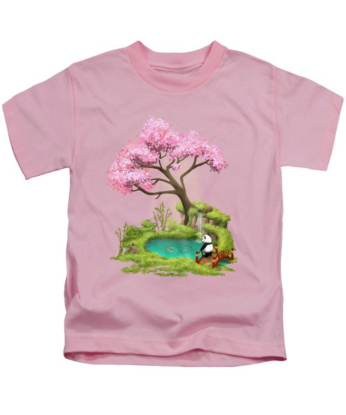 Anjing II - The Zen Garden Kids T-Shirt by Carlos M R Alves