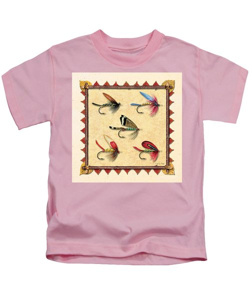 Antique Fly Panel Creme Kids T-Shirt