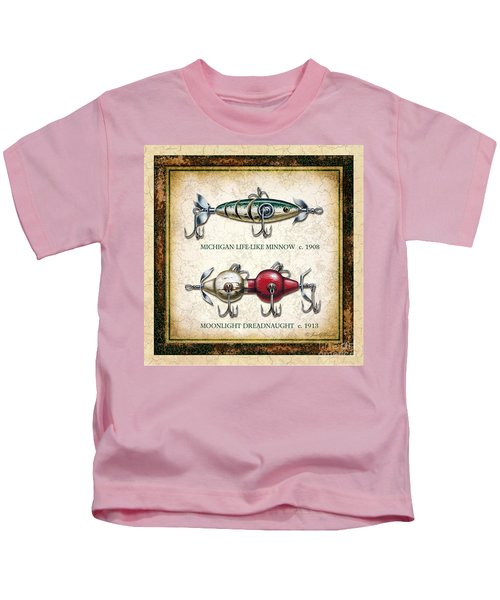 Antique Lure Panel Two Kids T-Shirt