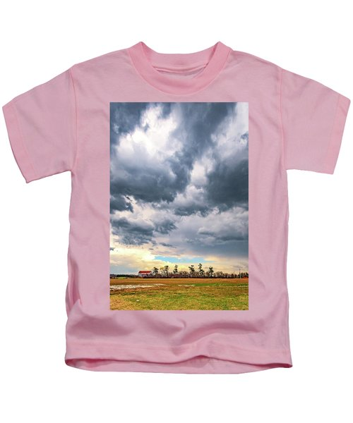 Approaching Spring Thunderstorm 3 Kids T-Shirt