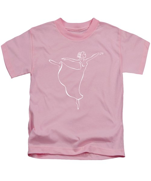 Arabesque Ballerina Kids T-Shirt