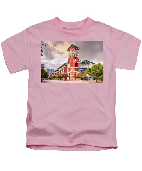 Architectural Photograph Of Minute Maid Park Home Of The Astros - Downtown Houston Texas Kids T-Shirt