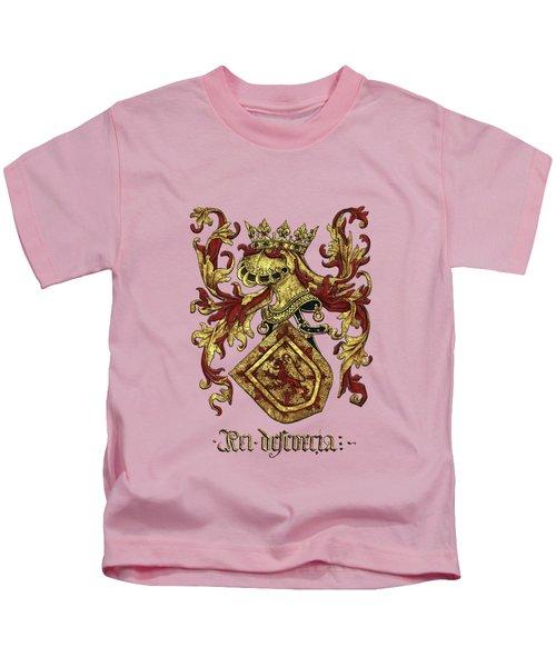 Arms Of King Of Scotland - Livro Do Armeiro-mor Kids T-Shirt