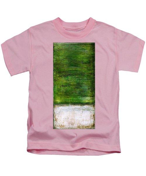 Art Print Green White Kids T-Shirt