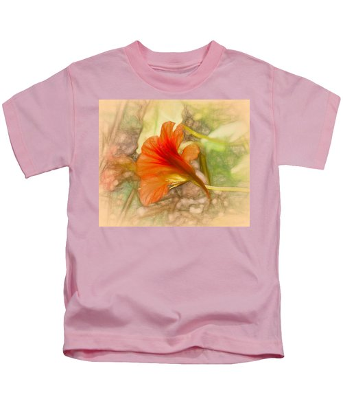 Artistic Red And Orange Kids T-Shirt
