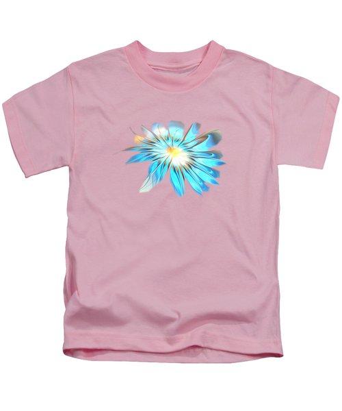 Shining Blue Flower Kids T-Shirt