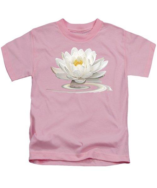 Inner Glow - White Water Lily Kids T-Shirt