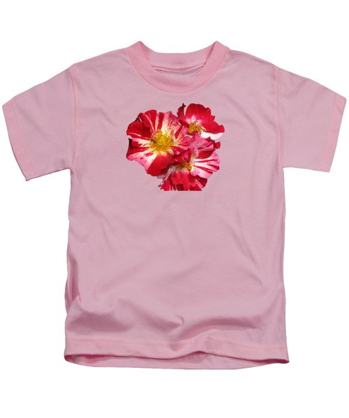 July 4th Rose Kids T-Shirt by M E Cieplinski