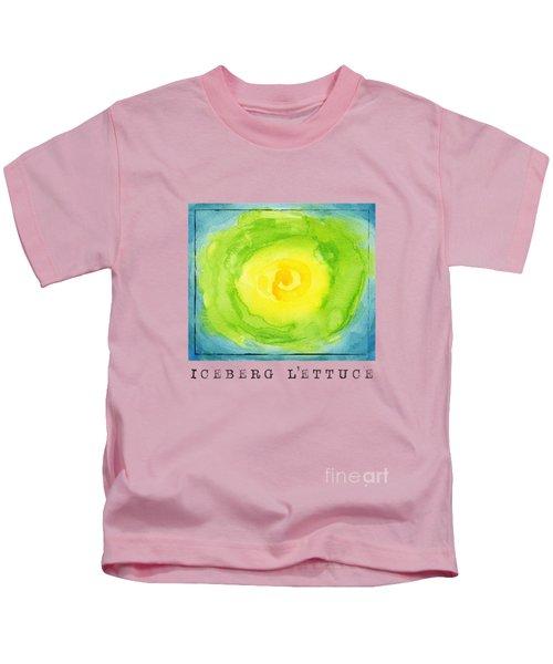 Abstract Iceberg Lettuce Kids T-Shirt