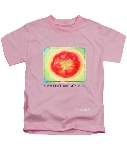 Fresh Tomato Kids T-Shirt by Kathleen Wong