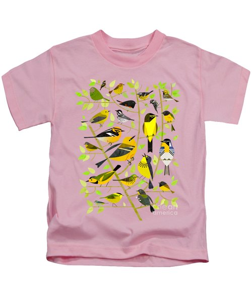 Warblers 1 Kids T-Shirt by Scott Partridge