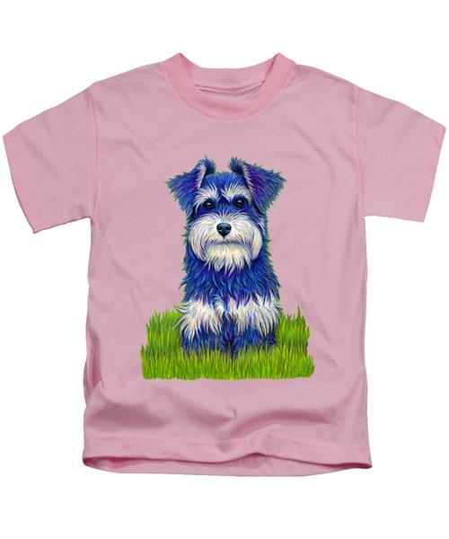 Colorful Miniature Schnauzer Dog Kids T-Shirt