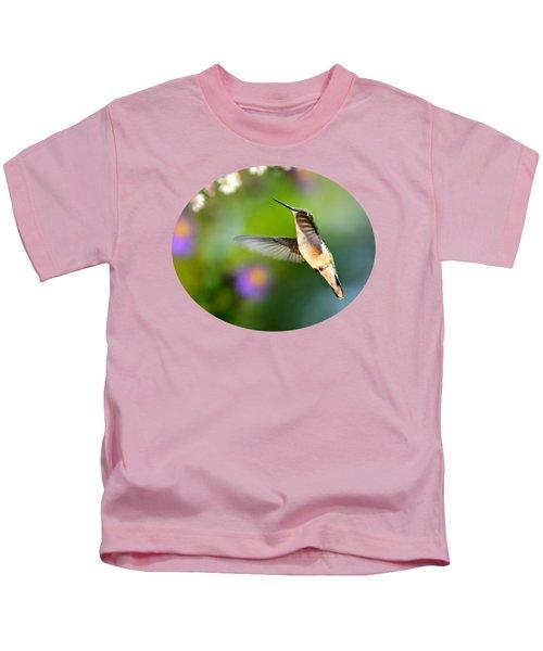 Garden Hummingbird Kids T-Shirt