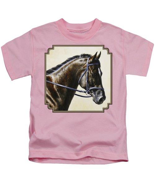 Dressage Horse - Concentration Kids T-Shirt