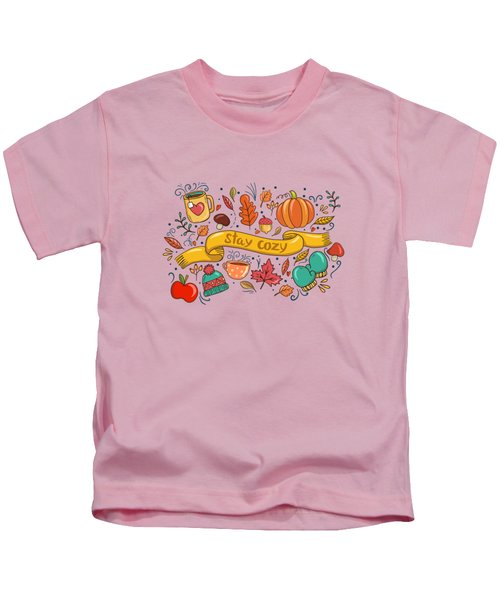 Autumn Is The Time To Stay Cozy Kids T-Shirt