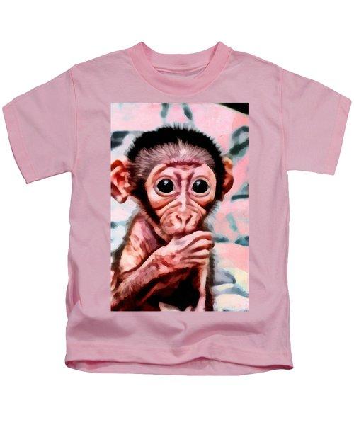 Baby Monkey Realistic Kids T-Shirt