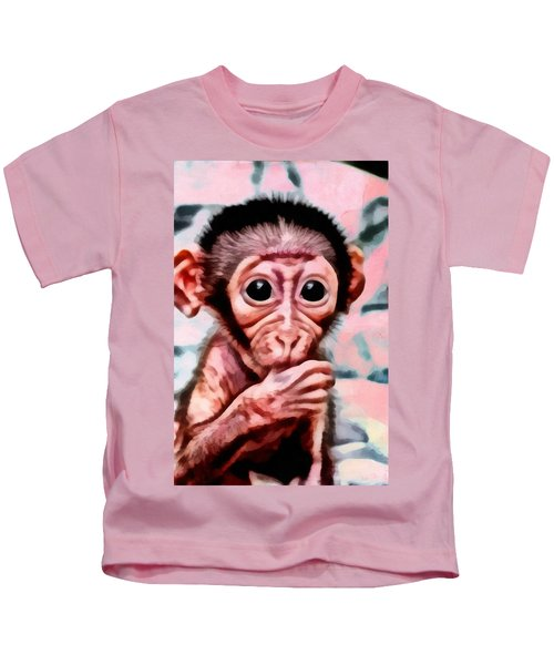 Baby Monkey Realistic Kids T-Shirt