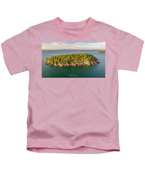 Bald Pocupine Island, Bar Harbor Kids T-Shirt