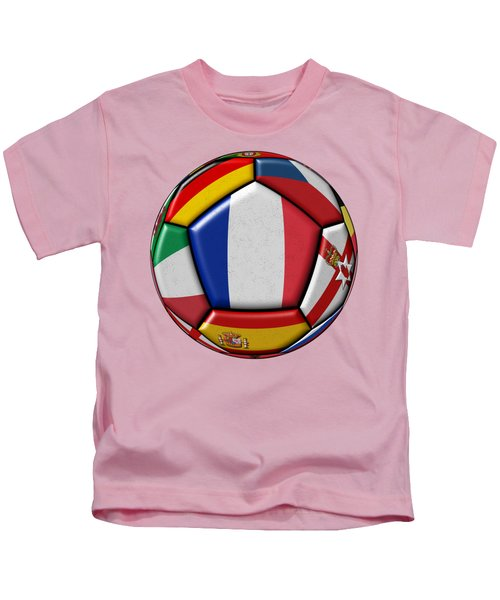 Ball With Flag Of France In The Center Kids T-Shirt