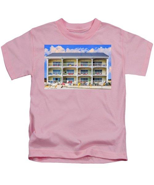 Beach Front Hotel Kids T-Shirt