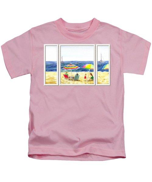 Beach House Window Kids T-Shirt