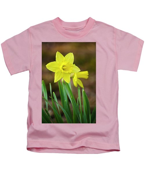 Beautiful Daffodil Flower Kids T-Shirt