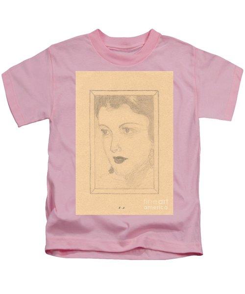 Beautiful Lady Face Kids T-Shirt