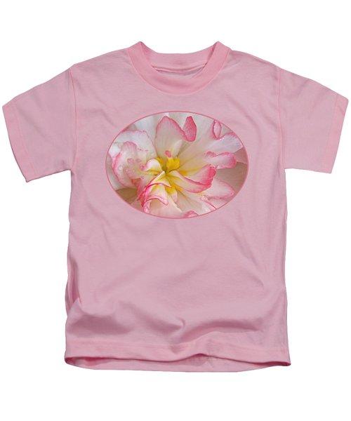 Begonia Pink Frills - Horizontal Kids T-Shirt
