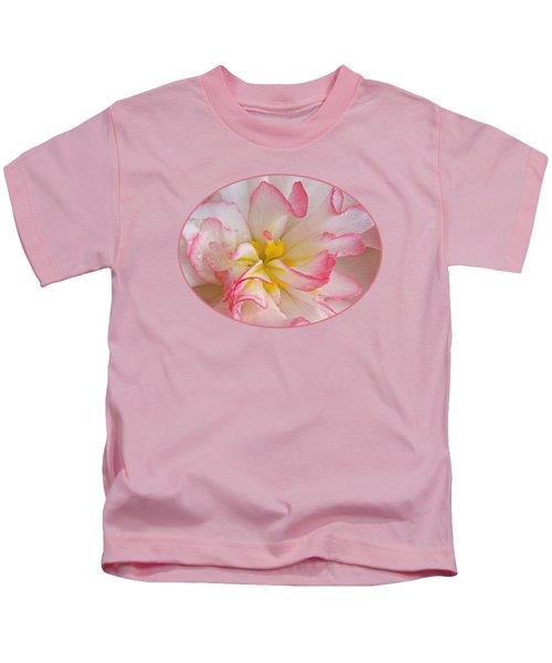 Begonia Pink Frills - Vertival Kids T-Shirt