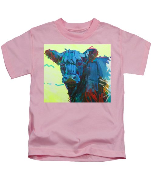 Belted Galloway Cow On Dartmoor Kids T-Shirt