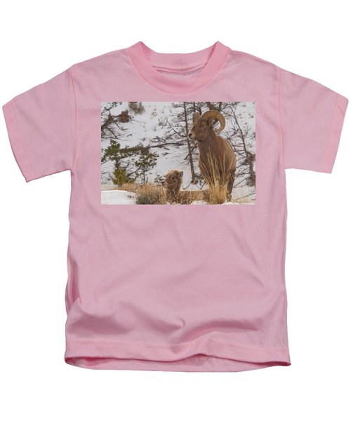 Bighorn Ram And Kid Kids T-Shirt