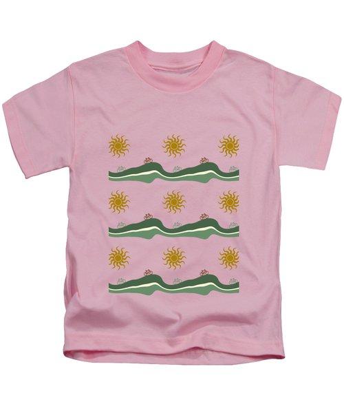 Bike Pattern Kids T-Shirt