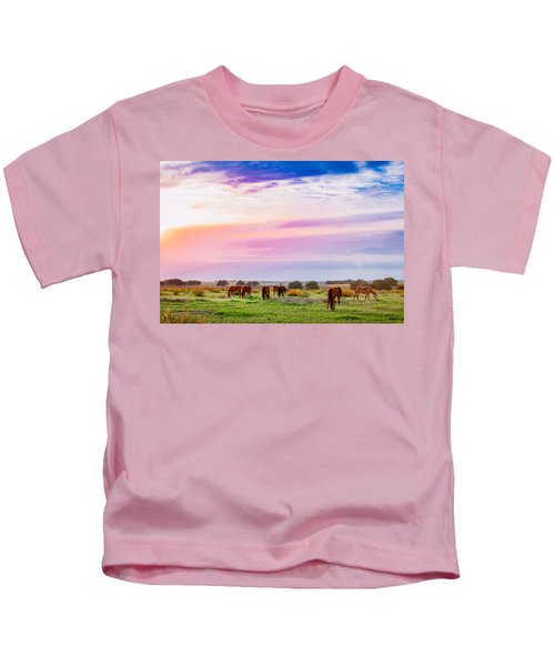 Blazing Sky Diner Kids T-Shirt