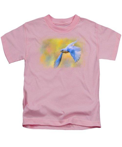 Bluebird Spring Flight Kids T-Shirt