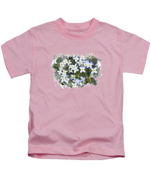 Bluet Flowers Watercolor Art Kids T-Shirt