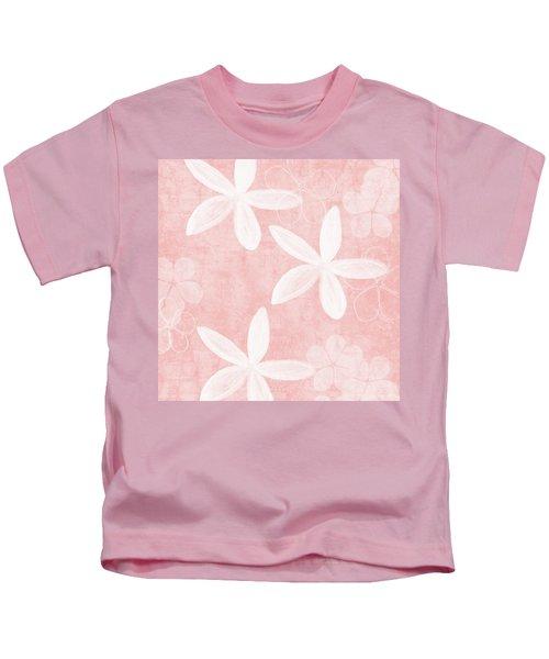 Blush Blossoms 3- Art By Linda Woods Kids T-Shirt