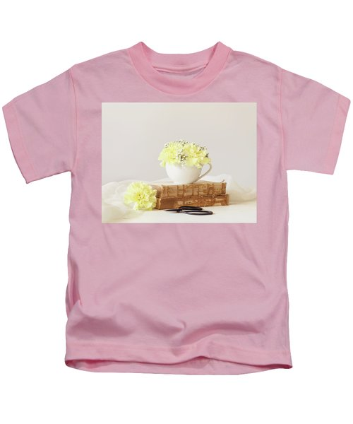Books And Flowers Kids T-Shirt