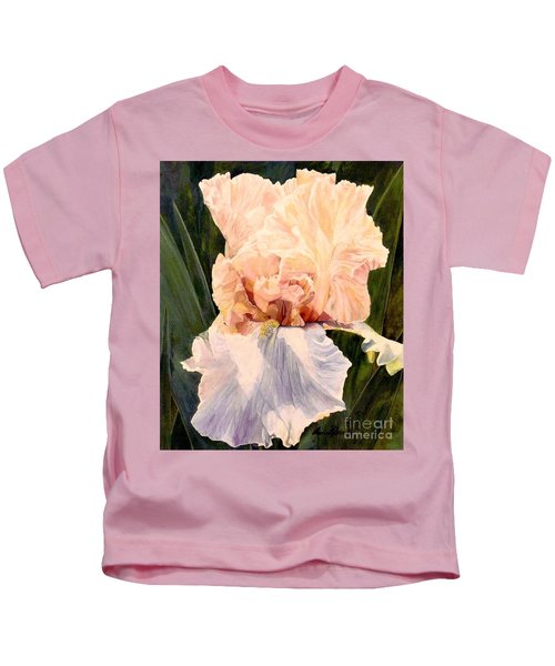 Botanical Peach Iris Kids T-Shirt