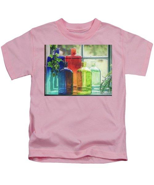 Bottles In The Window Kids T-Shirt