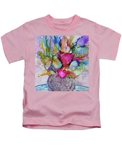 Bouquet In Pastel Kids T-Shirt