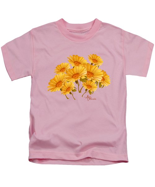 Bouquet Of Daisies Kids T-Shirt by Angeles M Pomata