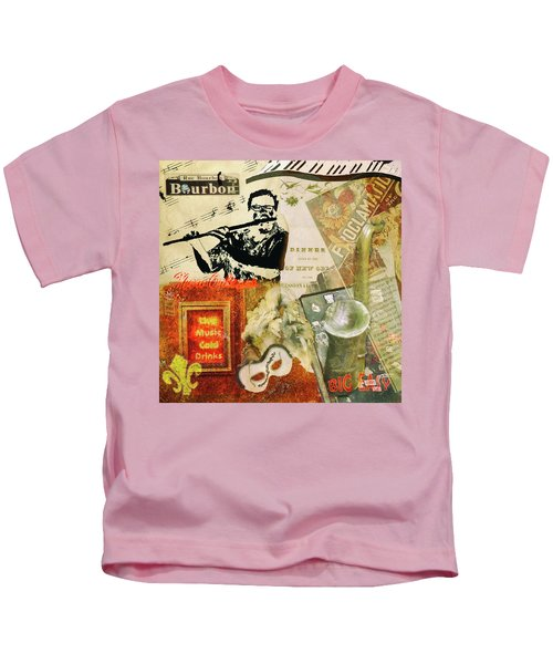 Bourbon Street Collage Kids T-Shirt