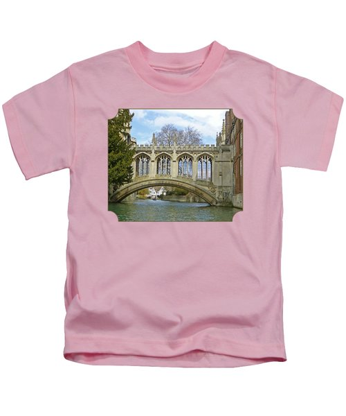 Bridge Of Sighs Cambridge Kids T-Shirt by Gill Billington