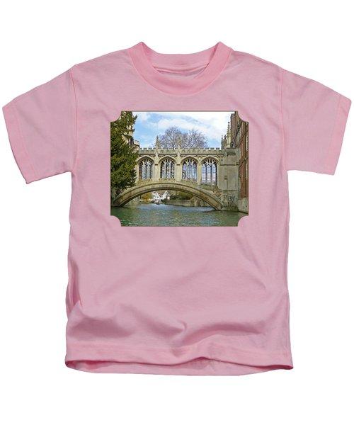 Bridge Of Sighs Cambridge Kids T-Shirt by Gill Billington