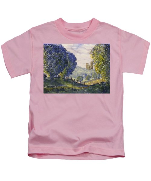 Bridlington Priory From Woldgate On The Hockney Trail Kids T-Shirt