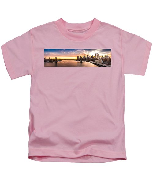 Brooklyn Bridge Panorama Kids T-Shirt